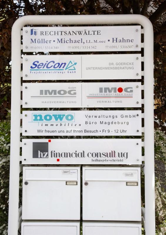 unser Firmenschild